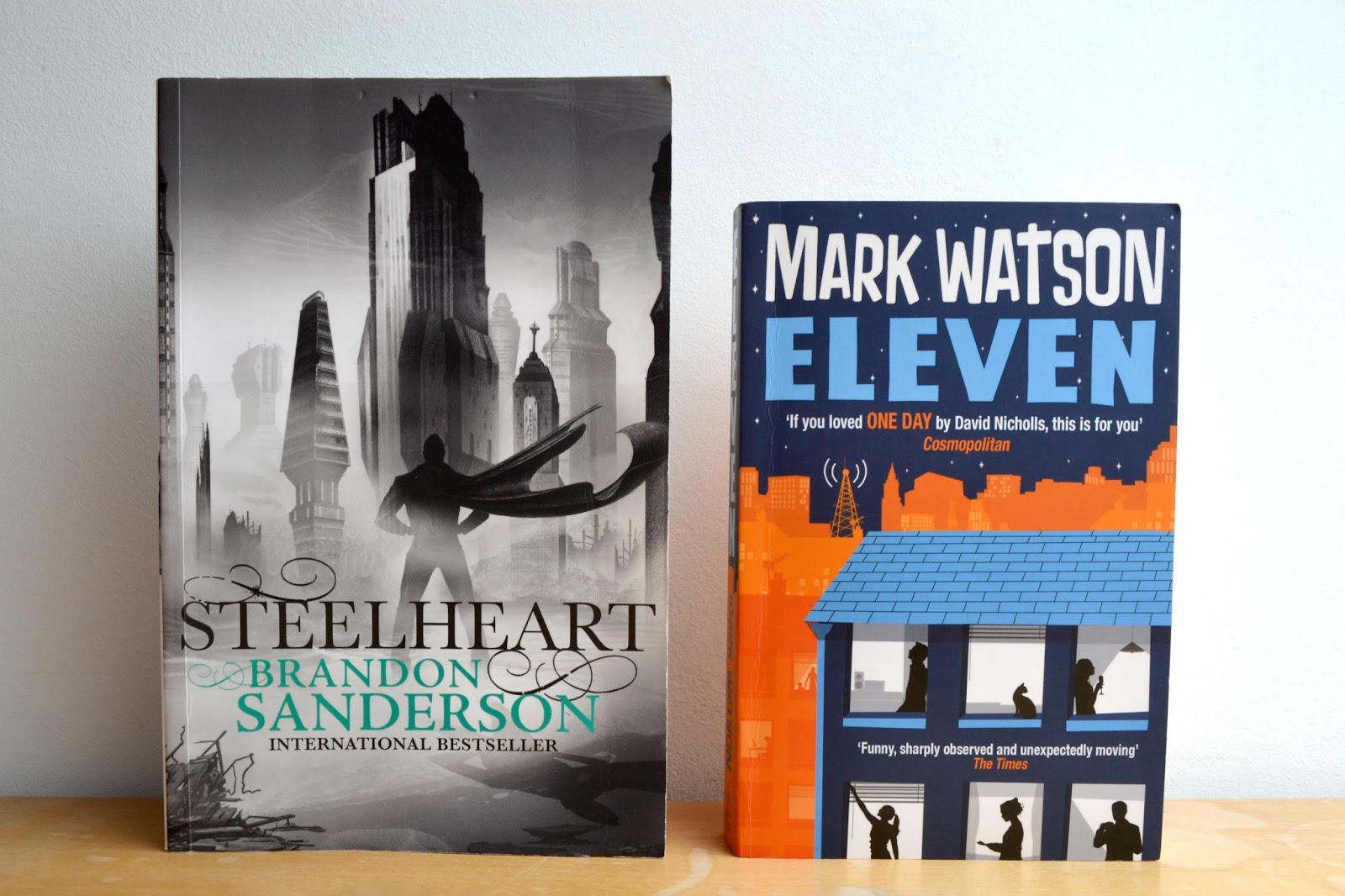 Steel heart by Brandon Sanderson and Eleven by Mark Watson