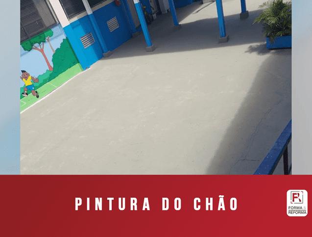 Pintura de chão de Parque Escolar RJ