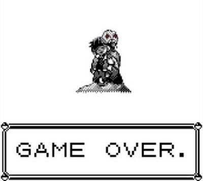 Pokémon: il Buried Alive di Lavandonia nella schermata di Game Over