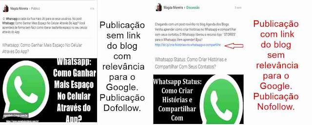 Importância das tags Dofollow e Nofollow no Google+.