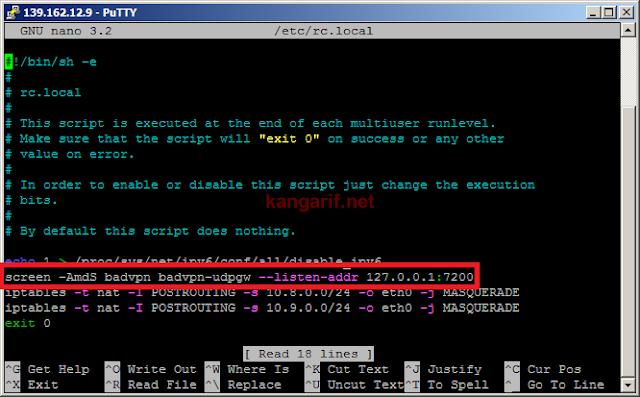Cara Mengubah Port UDPGW di Script Auto Install SSH dan OpenVPN