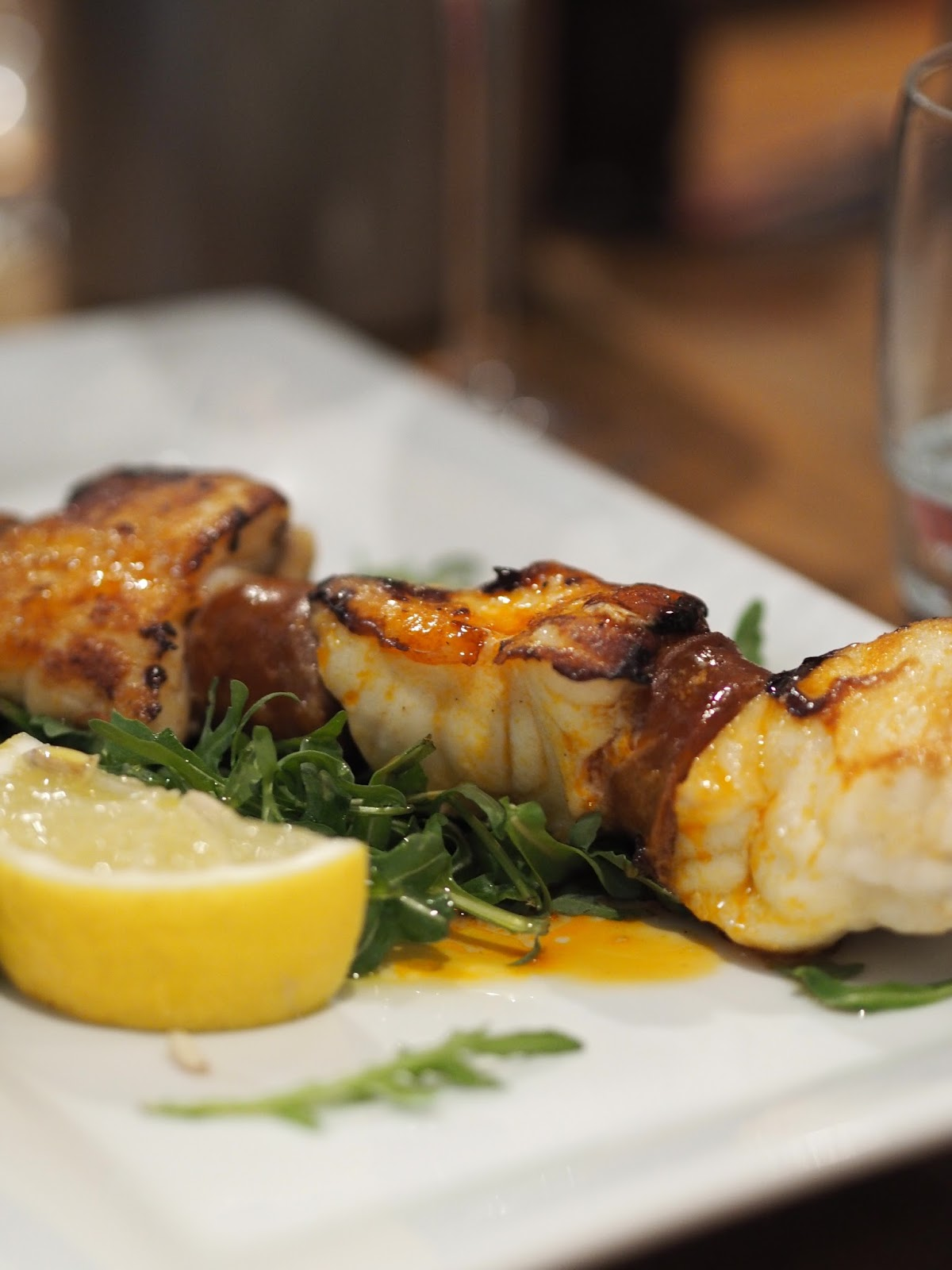 Monkfish & Chorizo Kebabs