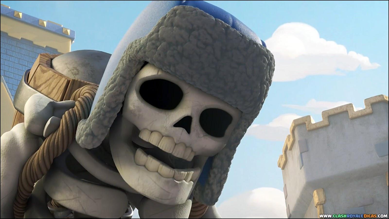 Novo Comercial Esqueleto Gigante Clash Royale Dicas