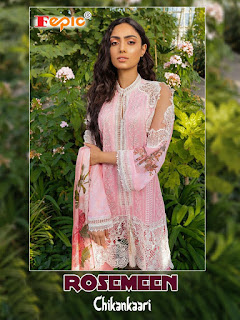 Fepic Chikankaari Kari Work Pakistani Suits Collection In Wholesale Rate