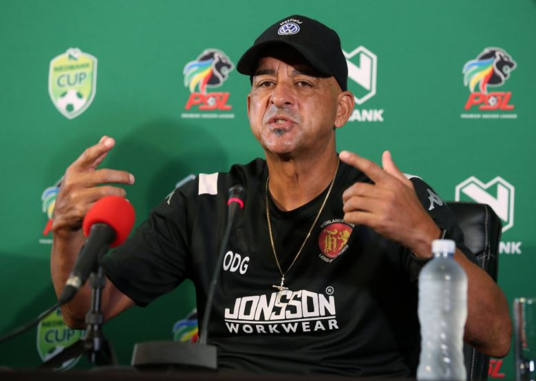 Highlands Park head coach Owen Da Gama