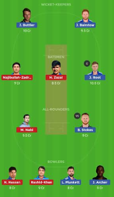 ENG vs AFGH dream 11 team | AFGH vs ENG