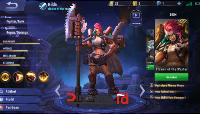4 Skill Hilda Hero Mobile Legends