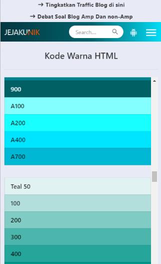 Cara Membuat Halaman Kode Warna HTML Pada Halaman Statis Blog