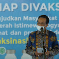Gubernur DI Yogyakarta Ikut Divaksin Covid-19