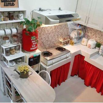 Gambar lemari dapur unik dan cantik