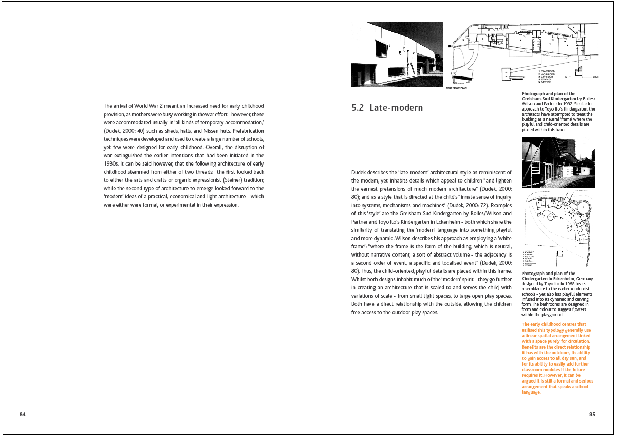AEC - Architecture of Early Childhood: Thesis progress