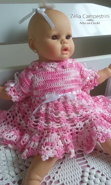 Vestido de Crochê para Mascotinha