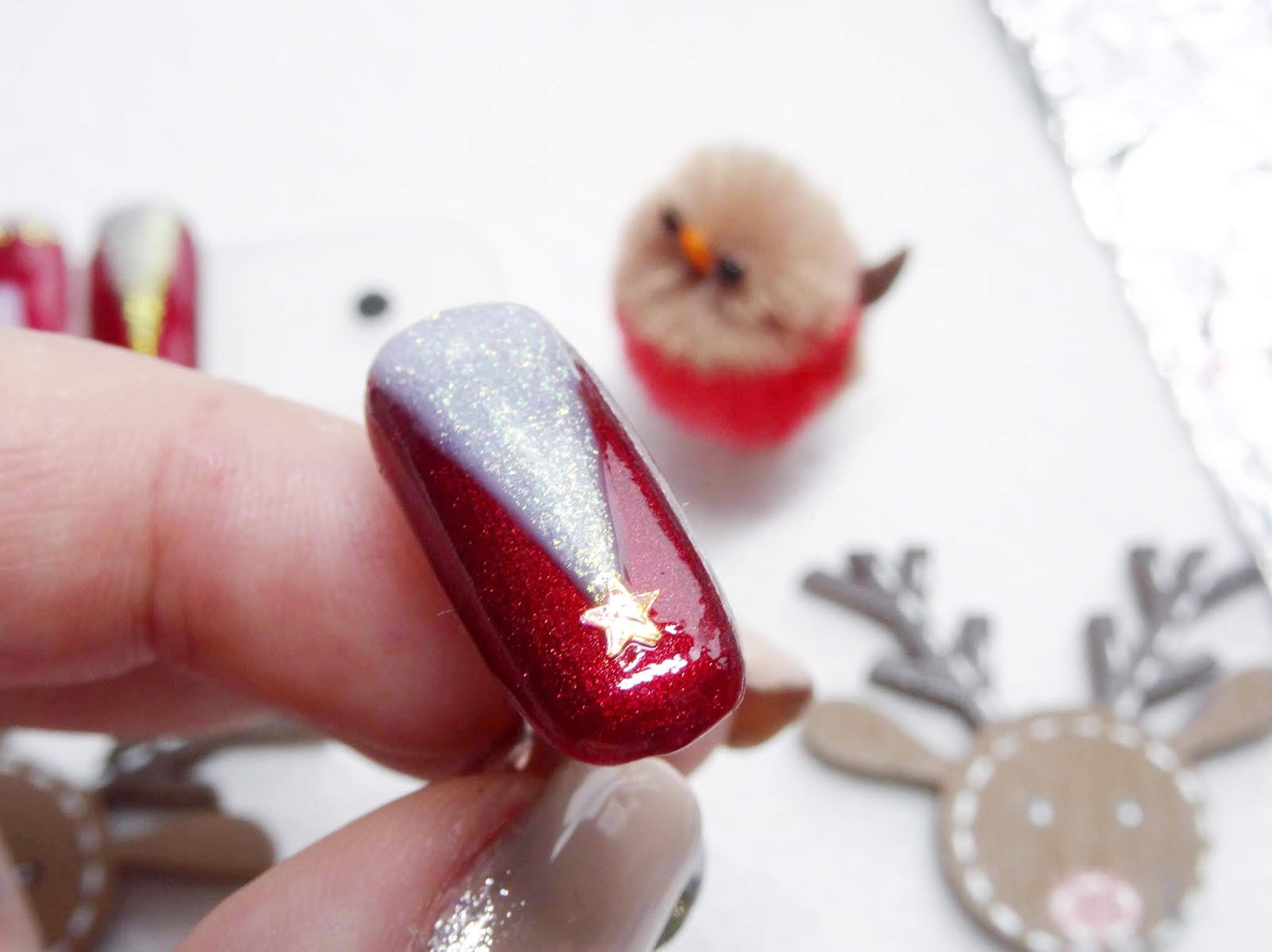Easy Christmas Tree Nail Art | Step By Step