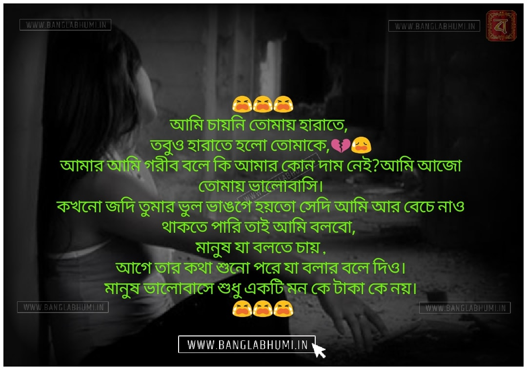 Bangla Whatsapp & Facebook Sad Love Shayari Status Free Download and share