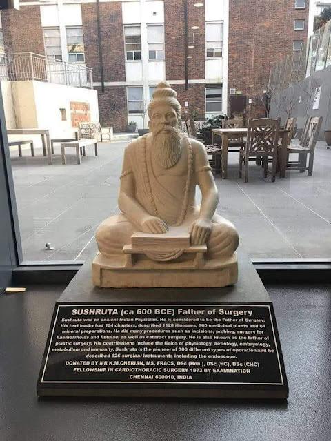 A statue of Surgeon Sushruta in the Royal Australia College of Surgeons, Melbourne