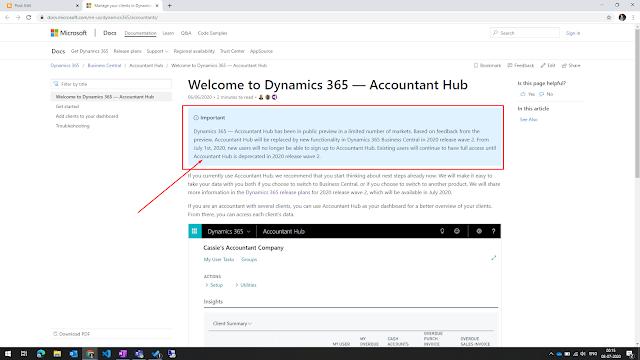 Accountant's Hub signup warning