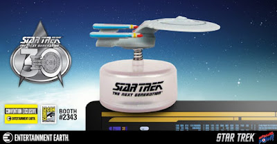 San Diego Comic-Con 2017 Exclusive Star Trek The Next Generation U.S.S. Enterprise NCC-1701-D Monitor Mate Bobble by Bif Bang Pow! x Entertainment Earth