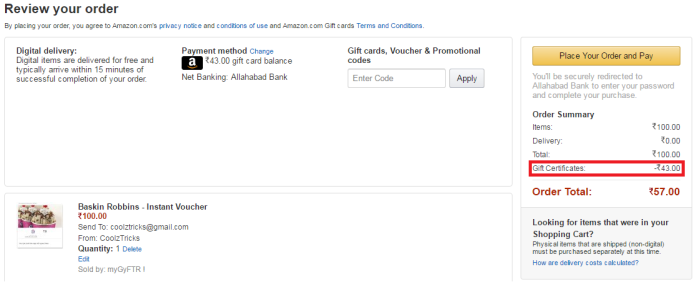 Trick To Convert Your Amazon Gift Card Balance To Gift Voucher ...