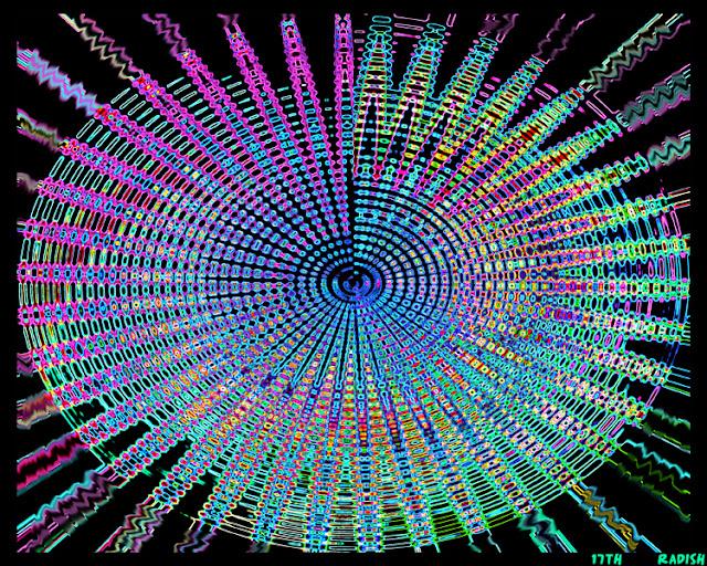 abstract neon black light blacklight art