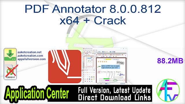 PDF Annotator 8.0.0.812 x64 + Crack