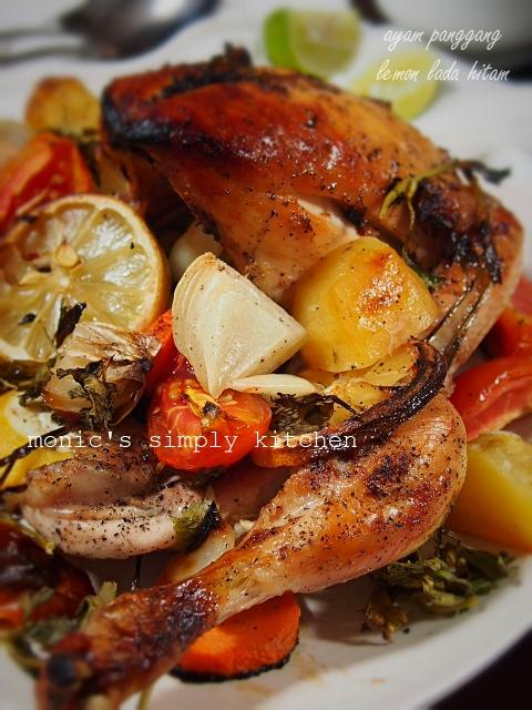 resep ayam panggang oven lemon lada hitam