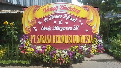 bunga papan pernikahan sidoarjo