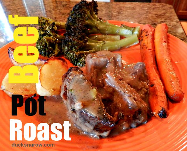 beef recipes, roasted potatoes, carrots, broccoli, family dinner