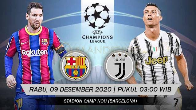 Prediksi Barcelona Vs Juventus, Rabu 09 Desember 2020 Pukul 03.00 WIB @ SCTV