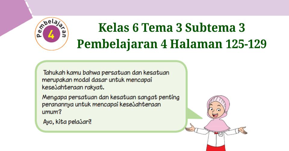 Kunci Jawaban Buku Tematik Kelas 6 Tema 2 Halaman 125, 126 ...