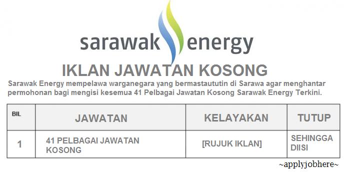 jawatan kosong swasta, jawatan kosong sarawak energy, jawatan kosong sarawak