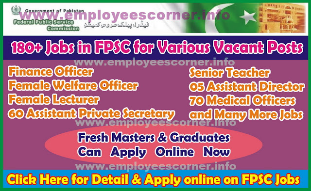Jobs in FPSC 2017 Federal Public Service Commission Jobs