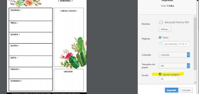 download 4 planners gratuitos para imprimir em casa