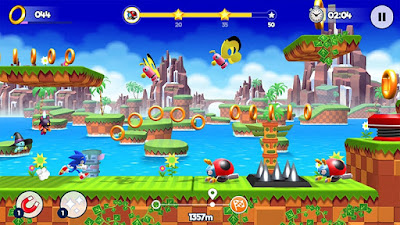 Tampilan Game Sonic Runners Adventure Android