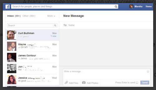 Send Private Message Facebook