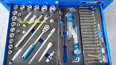 isi caddy tools laci pertama