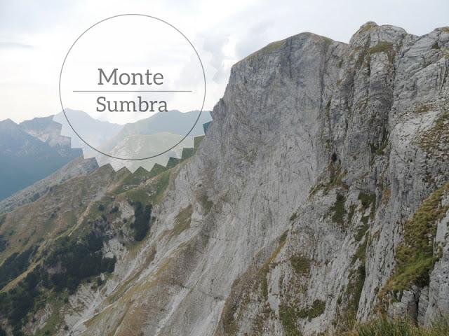 Ascesa del Monte Sumbra da Vianova. la parete sud del Sumbra