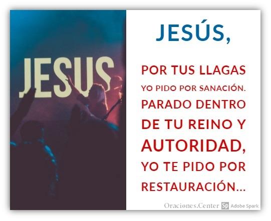 Oración de Sanación por las Llagas de Cristo