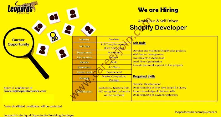 Leopard Courier Latest Jobs Shopify Developer