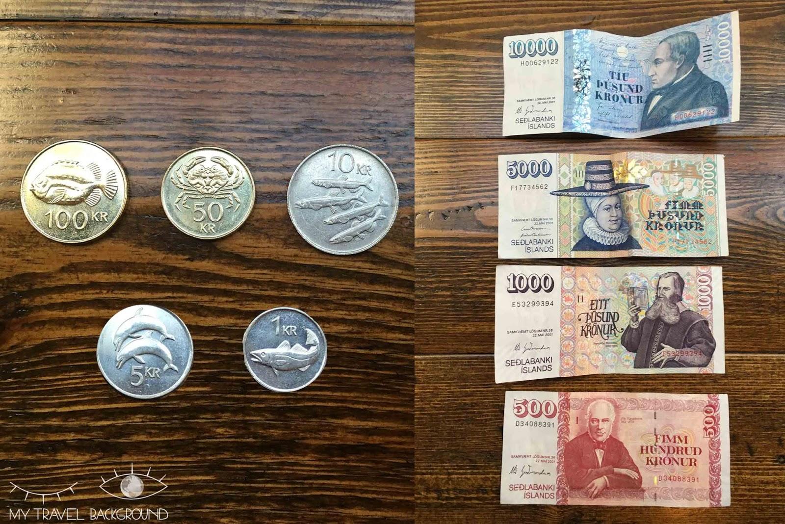 My Travel Background : Road Trip en Islande, itinéraire et infos pratiques / La monnaie