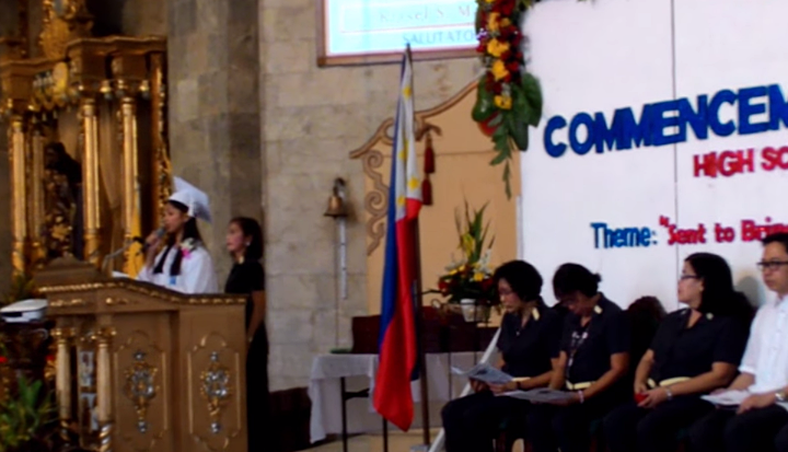 Salutatorian Speech, Kristel Mallari