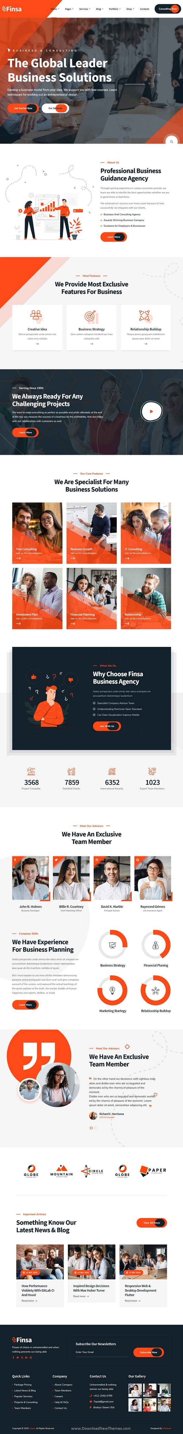 Consulting and Agency WordPress Theme