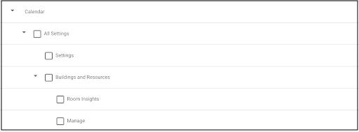 New Google Calendar admin privilege hierarchy in the Admin console 2