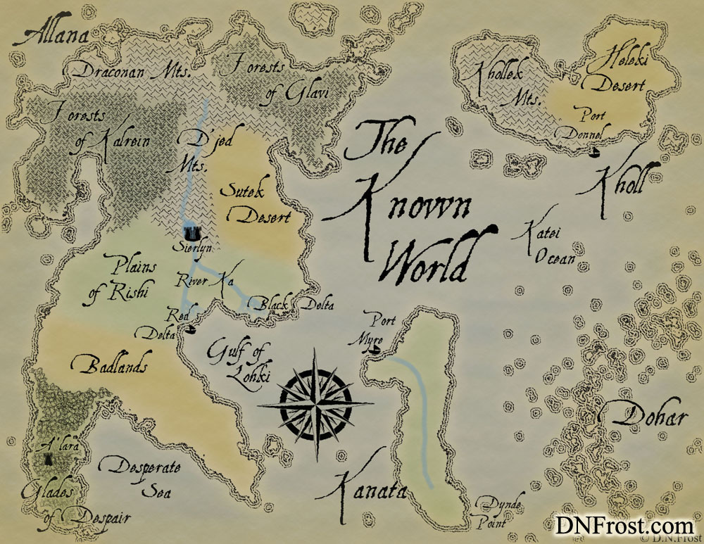 Allanic, the common tongue that unites the world. Dialect by D.N.Frost for the TotKW Saga www.DNFrost.com/language