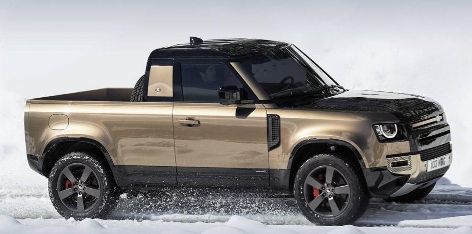 New Land Rover Defender Pickup render - MS+ BLOG