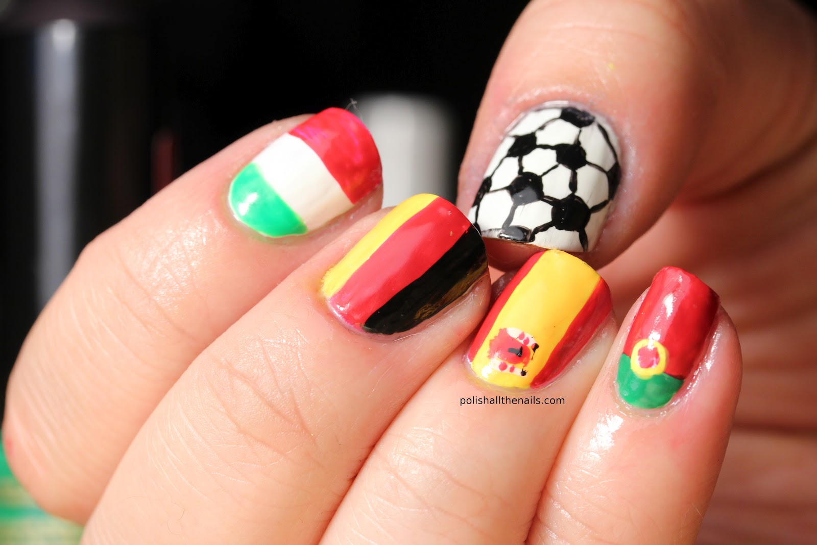 11 Awesome Nail Art Designs for the 2014 World Cup