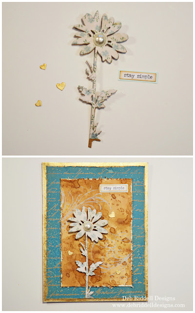 Stay Simple Mixed Media Plaque Tutorial