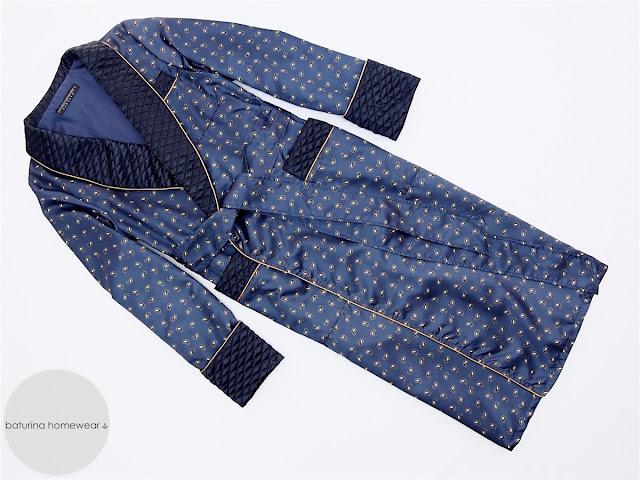 men's luxury quilted silk dressing gown paisley dark navy blue english silk robe bespoke