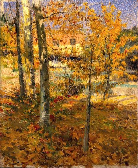 Outono, pintura de José Malhoa.