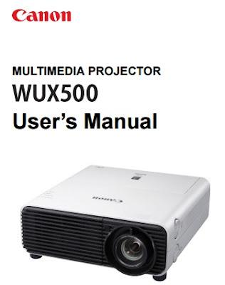 Canon XEED WUX500 Manual