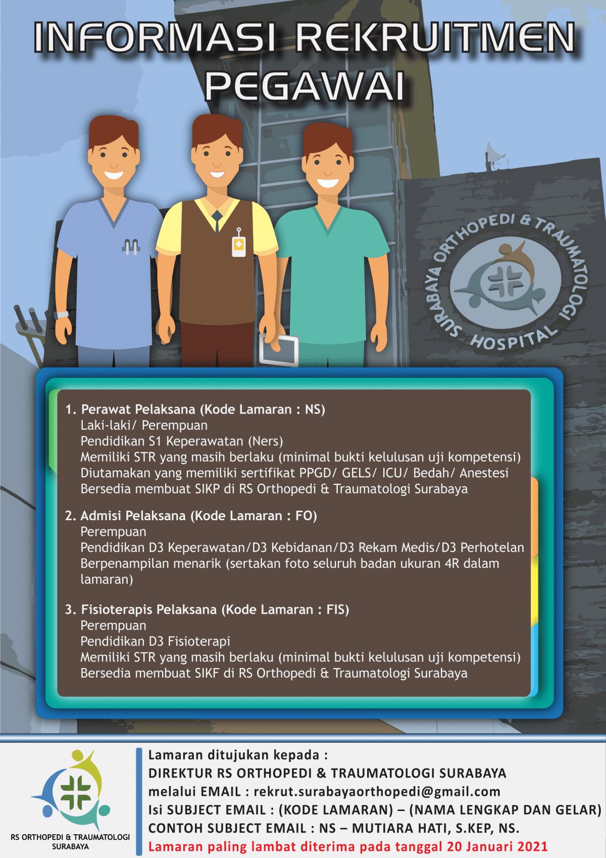 Loker RS Orthopedi & Traumatologi Surabaya